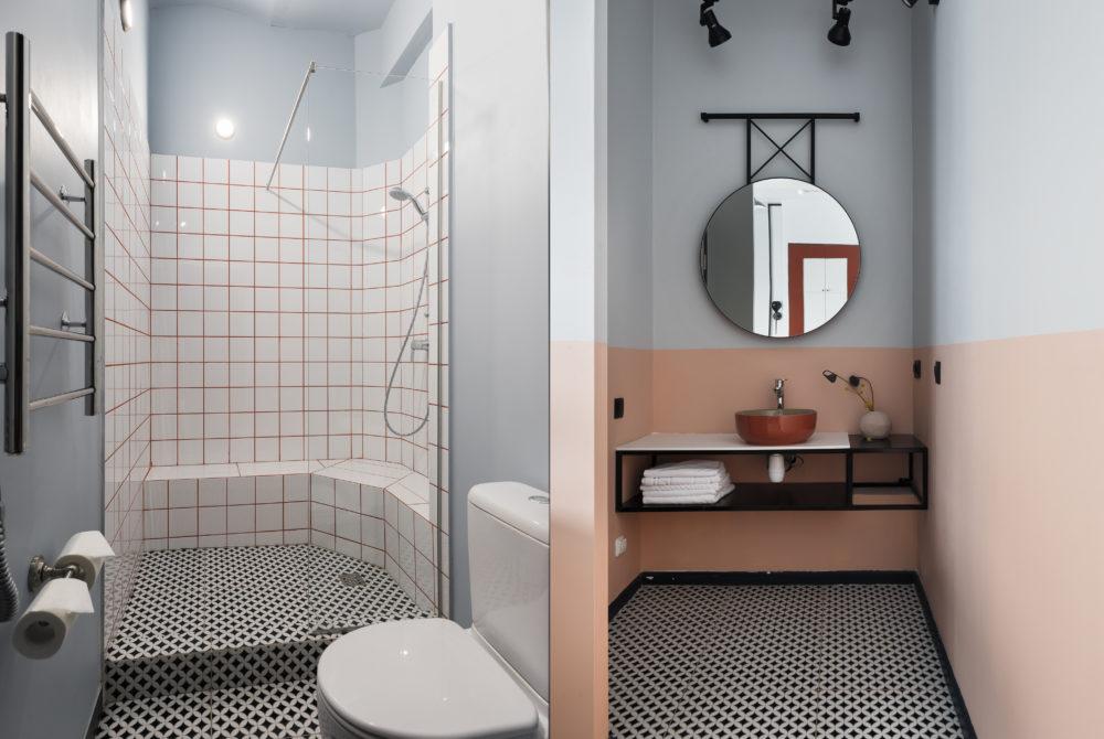 Туалет делюкс розовый номер